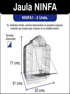 NINFA JAULA AZUL/BLANCA