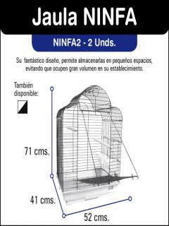 NINFA JAULAS NEGRA/BLANCA